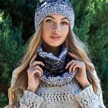 Комплект «Леонтай» шапка и шарф-хомут