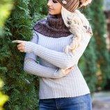 Комплект «Эйфория» шапка и шарф-хомут . 4253-7