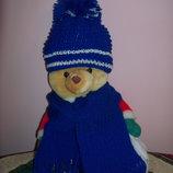 Комплект шапка и шарф . Ручная вязка