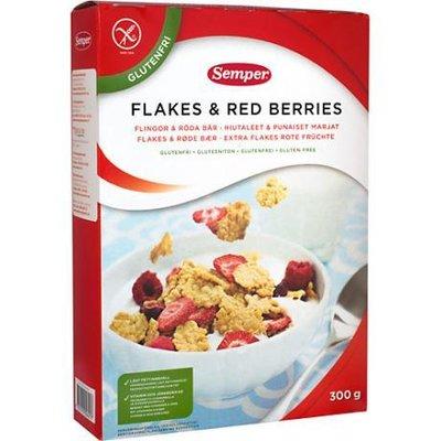 Хлопья и красные ягоды, злаки 300 грамм Семпер Semper , доставка под заказ со Швеции