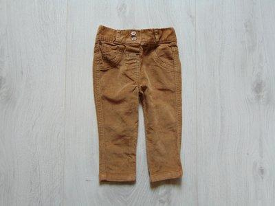Стильные вельветовые джинсы для девочки. George. Размер 3-6 месяцев. Состояние новой вещи