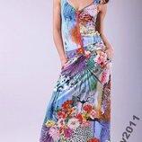 Платье POLIIT В Цветы