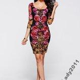 Платье Принт Цветы