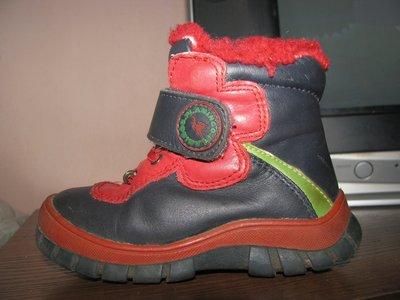Кожаные зимние ботинки Flamingo, стелька 15 см.