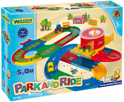 Игровой набор Kid Cars - Вокзал с дорогой 5 м Wader 51792