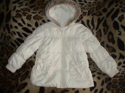 Шикарная практически новая теплая курточка NEXT на 5-6 лет