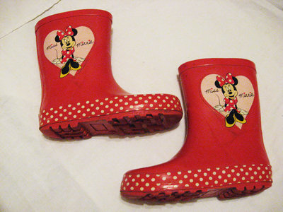 Резиновые сапожки с Минни-Маусом,стелька 18 см,Disney