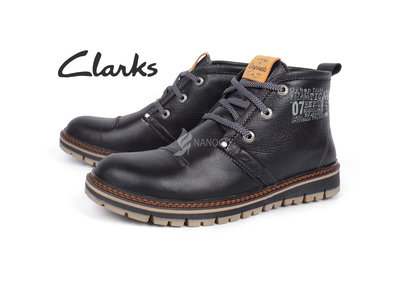 Ботинки кожаные Clarks мужские зимние Urban Tribe black Кларкс зима