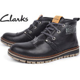 40 и 41 размер Ботинки кожаные Clarks мужские зимние Urban Tribe black Кларкс зима