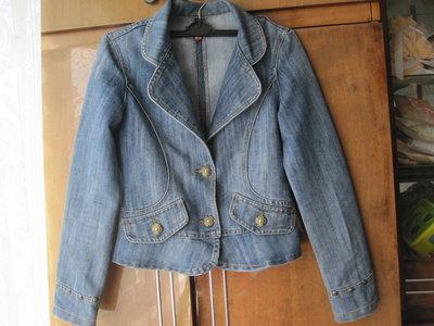 джинсовый пиджак S, джинсовая куртка 42-44 размер
