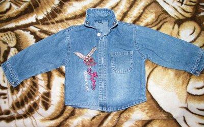 Продам джинсовую рубашку на 1-2 года