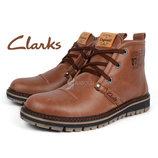 Ботинки кожаные Clarks мужские зимние Urban Tribe black