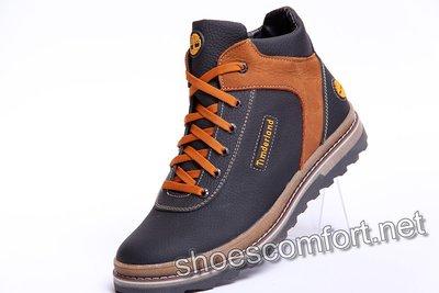 Продано: Ботинки спортивные зимние в стиле Timberland из натуральной кожи