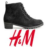 Ботинки женские демисезонные под замшу 37р фирмы H&M Швеция