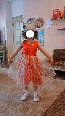 Атласное платье на 3-6 лет