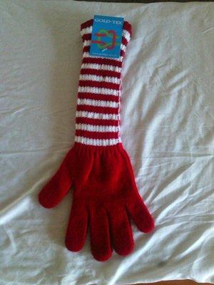 Перчатки красные с белой полоской gold-tex обхват ладони 19 см
