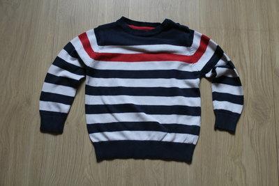 Полосатый свитерок на 3-5 лет