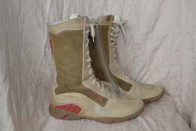Кожаные ботинки на шнуровке тренд 35-36р еврозима