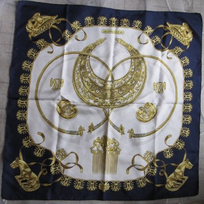 Продано: Платок шелковый винтаж оригинал раритет Hermes Paris
