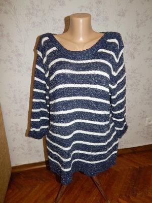 свитер вязаный стильный модный р20 большой размер