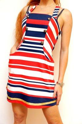 Летнее платьеце в морском стиле