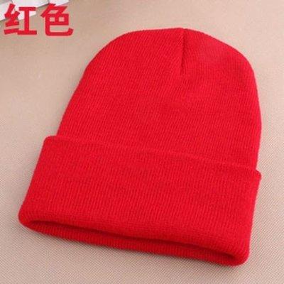Теплые мягкие шапочки для женщин и подростков. Красная