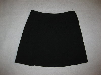 чёрная юбка из фактурного трикотажа 10-12 р-р H&M