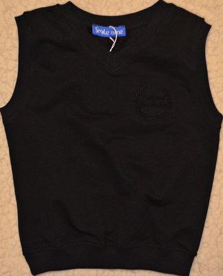Стильный жилет ткань двухнитка.черный и синий.рост 122-164