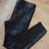 PRO Снизила цену Zara черные брюки под замшу М- размера