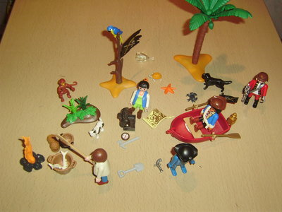 шикарный редкий набор Пиратский остров Playmobil Германия оригинал
