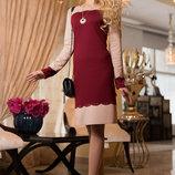 Романтическое ровное платье 703