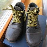 Ботинки 21см стелька кожа для двора