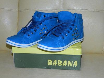 Новые синие женские кеды - кроссовки р. 38