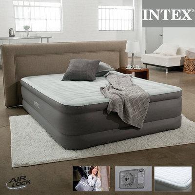 Надувная двуспальная кровать Intex 64474 со встроенным насосом 220В