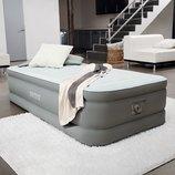 Надувная односпальная кровать Intex 64472 со встроенным насосом 220В