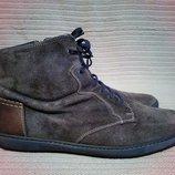 Стильные фирменные кожаные комбинированные ботинки Floris Van Bommel