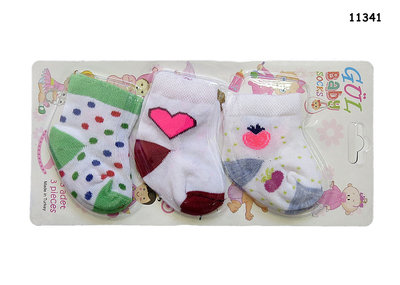 Носочки для новорожденного, комплектуются по 3 штуки.