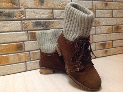Зимние ботинки, натуральная кожа и мех, 36 размер