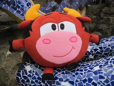 Продано: Мягкая игрушка - подушка Смешарик бык Муля Мулентий ручная работа