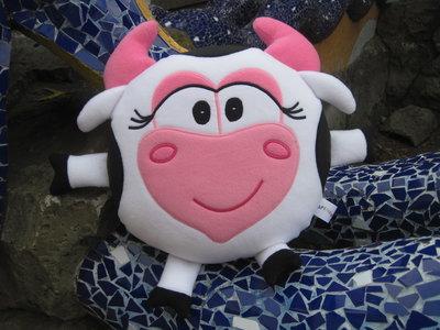 Мягкая игрушка - подушка Смешарик корова Муня Мунерва ручная работа