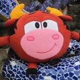 Мягкая игрушка - подушка Смешарик бык Муля Мулентий ручная работа