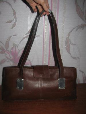 Коричневая сумка из натуральной кожи Gabo
