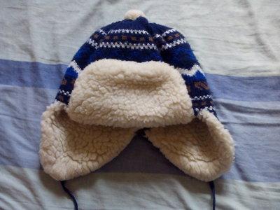 Теплая зимняя шапка для мальчика 3-5 лет