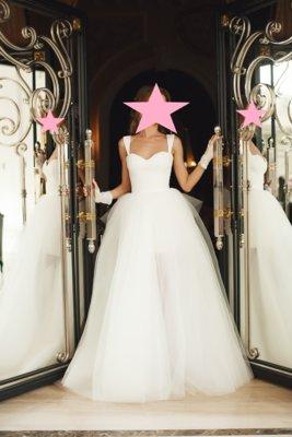 a2a54d4c7e66f6 Свадебное платье Blanka пышная юбка с бантом Carrie. От Оксаны Мухи ...