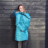 Зимняя куртка для беременных и слингоношения Бирюза