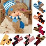 Комплект детский шапка и шарф Звезда