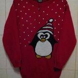 красивенный,яркий красный,плотный,удлиненный свитер-оверсайз Oyisis,с заниженной линией плеча