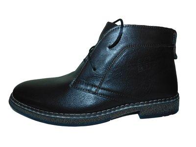 Мужские коричневые зимние ботинки