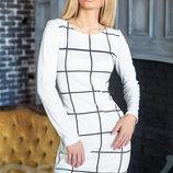 Трикотажное платье клетка