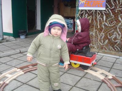 Продано: Зимний комбинезон, куртка Amadeo р.80